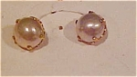 10kt faux pearl earrings