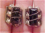 Mexican sterling earrings w/obsidian