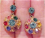 Muticolored rhinestone earrings