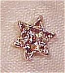 Click here to enlarge image and see more about item x2411: Jewish star tie tack