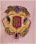 Art nouveau enameled pin