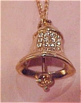Freedom Bell charm on necklace