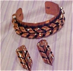 Renoir copper cuff and earrings