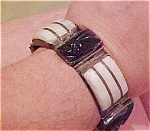 Sterling bracelet with obsidian