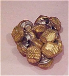 14 goldtone metal buttons