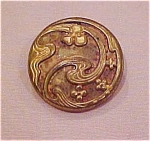 Art nouveau metal button