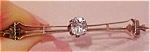10k bar pin with rhinestone