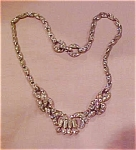 Pot metal and rhinestone necklace