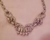 Click to view larger image of Pot metal and rhinestone necklace (Image2)