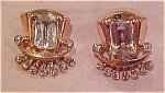 Sterling vermeil rhinestone earrings