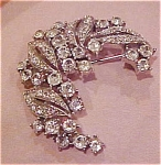 Trifari rhinestone brooch