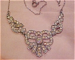 Click here to enlarge image and see more about item x2795: Edwardian style rhinestone necklace