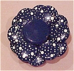 Blue metal flower pin