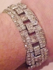 Click to view larger image of Art deco rhinestone bracelet (Image2)