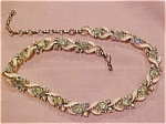 Rhinestone necklace w/enameling