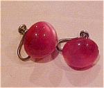 Pink plastic earrings