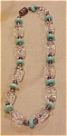 Czechoslovakian glass bead necklace