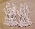 Crocheted gloves