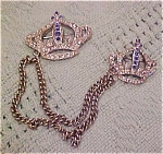 Crown Double brooch