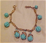 Miriam Haskell bracelet w/turquoise glass
