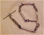 Silvertone watch chain