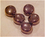 5 goldtone metal buttons