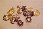 Goldtone metal buttons