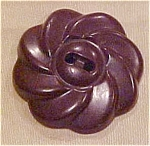 Brown plastic flower button