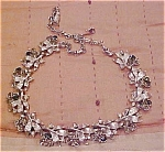 Necklace with grey & smoke rhinestones