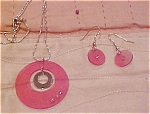 Lucite necklace and earring set