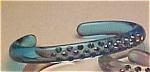 Lucite cuff with rhinestones
