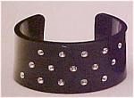 Plastic cuff with rhinestones