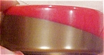 Red Bakelite bangle with gold lamination