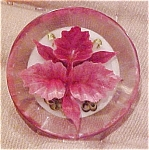 Lucite pin with embedded flower