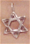 Click here to enlarge image and see more about item x3155: Jewish star charm pendant