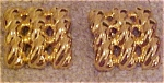 Goldtone rope design earrings