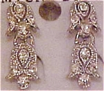 Contemporary rhinestone earringsq