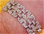 Art deco  pot metal and rhinestone bracelet