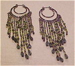 Contemporary chandelier earrings