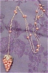 Art Deco grape cluster necklace