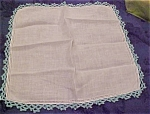 Handkerchief with blue edging