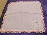 Handkerchief w/flower design
