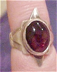 Sterling ring with glass stone