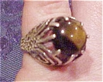Sterling ring with tiger's eye