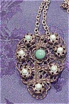 Czechoslovakian  filligree necklace