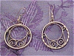 Click here to enlarge image and see more about item x3446: Silver earrings