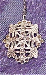 Sterling and marcasite pendant on chain