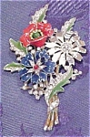 Trifari Flower fur clip