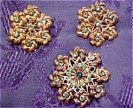 Floral design earrings and pin
