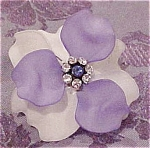 Modern plastic flower ring